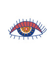 eye boho style design element ethnic mystic vector image vector image