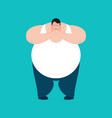 fat omg scared stout guy oh my god emoji vector image vector image