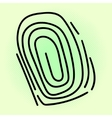 Fingerprint pop art vector image vector image