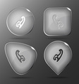 French curve Glass buttons vector image