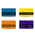 Gift card Set plastic gift cards vector image vector image