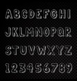 hand drawn alphabet typography letters and numbers vector image vector image