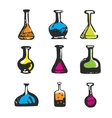 Hand drawn chemical test tube vector image