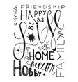 Happy Life Lettering vector image
