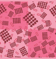 happy valentines pattern seamless pink wrapping vector image