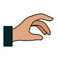 Human hand catching icon