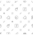 idea icons pattern seamless white background vector image vector image