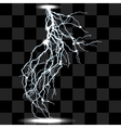 isolated realistic lightnings with transparency vector image