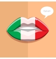 Italian language concept vector image vector image