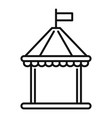 kid castle tent icon outline style vector image vector image