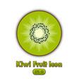 kiwi fruit icon placed on white background vector image