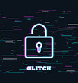 lock line icon private locker sign vector image vector image