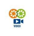 logo camcorder vector image vector image