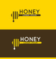 logo of bee honey stylish and modern logo for vector image vector image