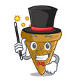 magician sweet wafer cone isolated on maskot vector image vector image