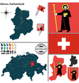 Map of Glarus vector image vector image