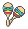 mexican maracas filled outline icon music vector image vector image