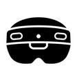 mixed reality hololens 2 headset icon vector image vector image