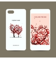 mobile phone cover back and screen love tree