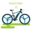 modern electric bike isolated on white background vector image vector image