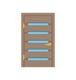 modern wooden door with glass closed elegant door vector image vector image