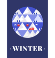 Mountain winter card vector image