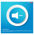 mute volume icon abstract blue web sticker button vector image