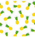 pineapple natural seamless pattern backgroun vector image vector image