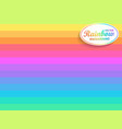 rainbow horizontal background vector image vector image