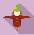 rural scarecrow icon flat style vector image vector image