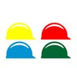 safety helmet color logo icon vector image