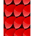 Seamless red gradient rosettes pattern vector image vector image