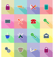 service flat icons 18 vector image vector image