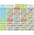 set 200 icons for web and mobile vector image