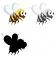 set bee character vector image vector image