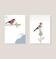 set christmas scandinavian greeting cards vector image vector image