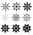 Set of helms vector image vector image
