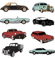 Set of retro cars in vector image