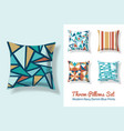 set of throw pillows in matching unique vintage vector image vector image