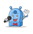 singing pencil sharpener character cartoon vector image vector image