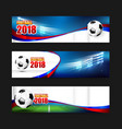 soccer football 2018 web banner 001 vector image vector image