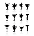 Sports trophies and awards vector image vector image