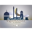 Stylish text Ramadan Kareem on paper tags with