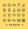 taxi services icon thin line set vector image vector image