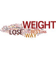 the best way to lose weight text background word vector image vector image