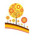 tree autumn background vector vector image