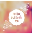 Unfocused summer poster vector image