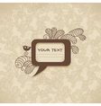 Vintage background with speech bubble vector image vector image