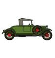 Vintage green roadster vector image vector image