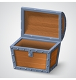 vintage wooden chest with vector image vector image